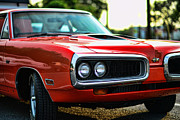 1970 Dodge Super Bee Front Lights Posters - Dodge Super Bee classic red Poster by Paul Ward