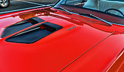 Dodge Super Bee Emblem Prints - Dodge Super Bee Hood  in Red Print by Paul Ward