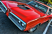 Dodge Super Bee Emblem Prints - Dodge Super Bee in Red Print by Paul Ward