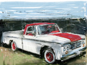 Collectible Mixed Media Prints - Dodge Truck Print by Russell Pierce