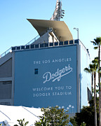 Base Ball Photo Posters - Dodger Stadium Poster by Malania Hammer