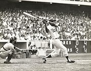 Dodger Stadium Photos - Dodger Willie Davis Batting at Dodger Stadium  by Jamie Baldwin