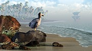 Paleoart Prints - Dodo Afternoon Print by Daniel Eskridge