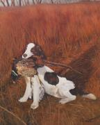 Barbara Barber - Dog and Pheasant