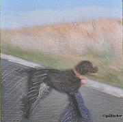 Black Lab Mixed Media - Dog at Millenium Park by Gail Fischer