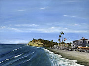 Oceanside Painting Prints - Dog Beach Print by Lisa Reinhardt