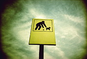 Owner Photo Prints - Dog Fouling Sign Print by Kevin Curtis