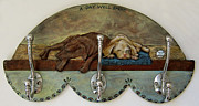 Dog Reliefs Originals - Dog leash Hook-SOLD by Janet Knocke