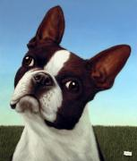Pet Painting Prints - Dog-Nature 4 Print by James W Johnson