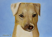 Ontario Portrait Artist Paintings - Dog Portrait by Monika Dickson