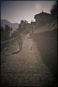 Lago Di Como Art - Dog Walk in Ossucio by Chuck Parsons