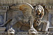 Venise Photos - Doge s Palace Lion of St Mark Venice by Cedric Darrigrand