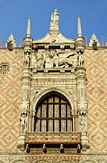 Italian Sunset Posters - Doges Palace at sunset Poster by Sami Sarkis