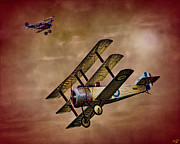 Dogfight Digital Art - Dogfight 1918 by Chris Lord