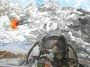 Dogfight Print by D K Betts