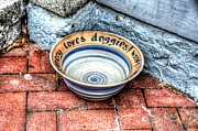 Stoneware Prints - Doggie Dish Print by Debbi Granruth