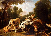 Dogs Fighting Print by Pg Reproductions