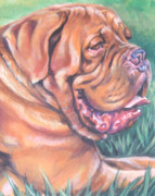 Mastiff Dog Posters - Dogue de Bordeaux Poster by Lee Ann Shepard