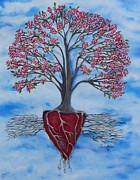 Tree Roots Painting Posters - Dogwood Greentree Proverb Poster by Leandria Goodman