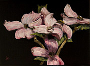 Diane Kraudelt Art - Dogwood In Pink by Diane Kraudelt