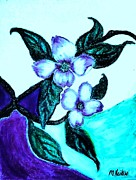 Acrylic Pastels - Dogwood Purple by Marsha Heiken