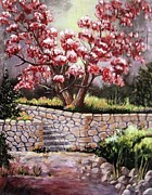 Tree Blossoms Paintings - Dogwood Tree by Jamie Frier