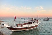 Doha Bay Qatar Sunset Print by Paul Cowan