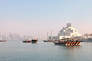 Qatar Framed Prints - Doha morning Framed Print by Paul Cowan