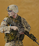 Iraq Painting Originals - Doing his Duty by Terry Gill