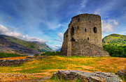 Great Britain Digital Art - Dolbadarn Castle  by Adrian Evans