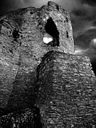 North Wales Pyrography - Dolbadarn castle by Duncan Rowe