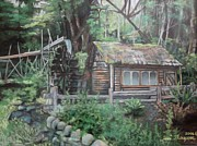 Shed Pastels - Dolby Water Wheel by Terri Thompson