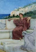 Greece Watercolor Paintings - Dolce Far Niente by Sir Lawrence Alma-Tadema