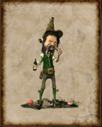 Leprechaun Digital Art - Doldhor by John Junek