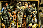 Flea Market Framed Prints - Doll - GI Joe in Camo Framed Print by Paul Ward
