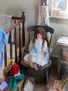 Crib Art - Doll in Nursery by Susan Savad