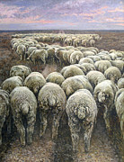 Metaphor Paintings - Dollar or Philosophy of the crowd in pursuit of profit by Andrey Soldatenko