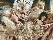 Flea Posters - Dolls - Attack of the Blonde Barbies Poster by Paul Ward