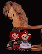 Horse Toys Posters - Dolls And Rocking Horse Poster by Jerry Taliaferro