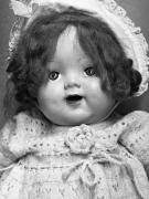 Doll Photos - Dolly in Black and White by Marion McCristall
