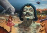 Surreal Paintings - Dolly in Dali-Land by James W Johnson