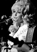 Dolly Parton Prints - Dolly Parton Performing In The Early Print by Everett