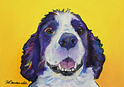 Pat Saunders-white Dog Paintings - Dolly by Pat Saunders-White
