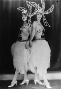 Mid Adult Women Posters - Dolly Sisters Poster by Hulton Collection