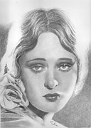 Dolores Drawings Framed Prints - Dolores Costello Framed Print by Karen  Townsend
