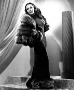 Fur Stole Prints - Dolores Del Rio, 1937 Print by Everett