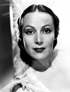 Dolores Photo Framed Prints - Dolores Del Rio, Ca. 1930s Framed Print by Everett
