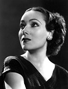 Del Rio Photo Framed Prints - Dolores Del Rio, Ca. 1935 Framed Print by Everett