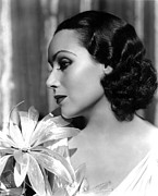 Dolores Photo Framed Prints - Dolores Del Rio, Portrait Ca. 1934 Framed Print by Everett