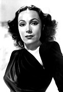 Dolores Photo Framed Prints - Dolores Del Rio, Portrait Ca. 1940 Framed Print by Everett